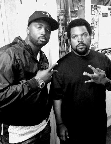 DJ Black Moose och Ice Cube - Bild: privat