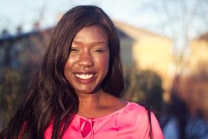 Victoria Kawesa, forskare i genusvetenskap och riksdagskandidat för Feministisk Initiativ 2014