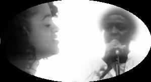 Seinabo Sey med sin far Maudo Sey, bild från youtube