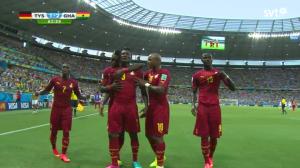 Ghanas 2-1 mål mot Tyskland- Bild: Thegambia.nu