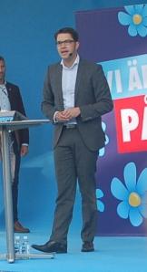 Jimmie Åkesson talar i Almedalen 2014. Foto: thegambia.nu