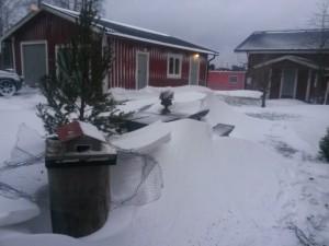Snö i Sverige. Foto: Afropé.se