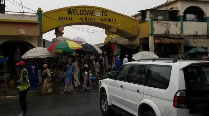 Årets första regn har fallit i Gambia