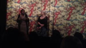 Peres Owino, regissör i samtal med Karin Elfving, Cinemafrica efter visningen av Bound: Africans vs African Americans under Cinemafricas Diaspora-festival