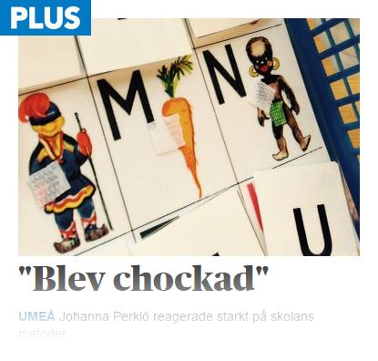 Rasistiska bokstavskort användes på särskola i Umeå