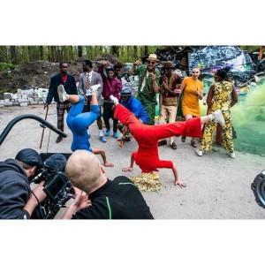 Foto: Privat Bakom kulisserna från videon