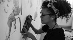 Pressbild. #gibcaextended Phoebe Boswell working on TRAMLINES - Foto: Samuel Wahlstedt
