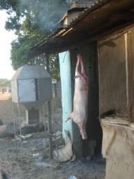 Köttet ska förberedas Foto: Fatou Touray, Afropé