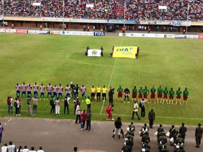 Gambia narrowly lose to Cameroun