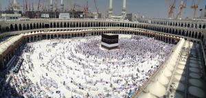 Tidigare bild från den aktuella moskén, lyftkranar syns dock i bakgrunden.