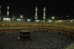 Tidigare bild från den aktuella moskén i Mekka