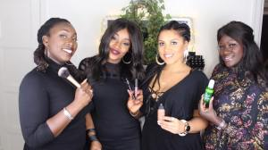 Black Vogue, från vänster: Nabougahl Secka, Lovette Jalloe, Amy Egerbladh, Antoinette Gaude - Foto: Lovette Jallow