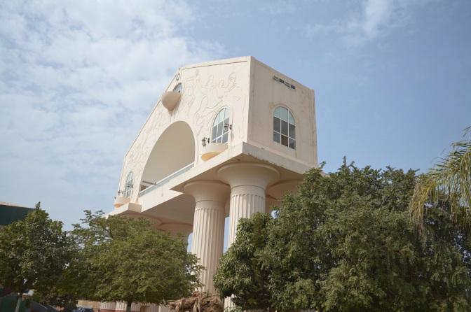 En magnifik utsikt från bågen över Banjul