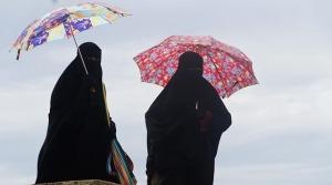 Burkaklädda kvinnor
