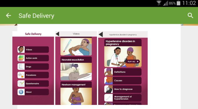Säkrare förlossningar i Etiopien med hjälp av danska appen Safe Delivery