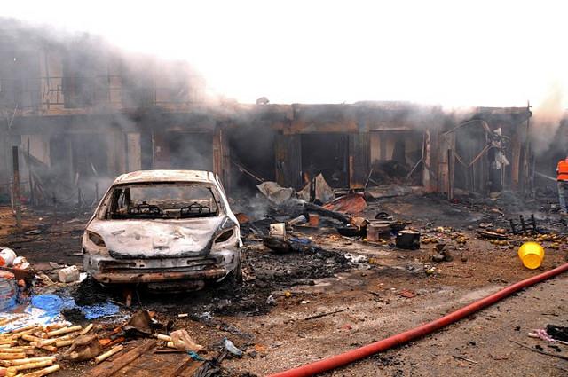 Självmordsbombning mot internflyktingläger i nordöstra Nigeria