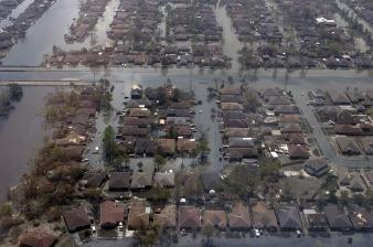 Förödelsen efter orkanen Katrina