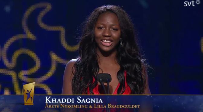 Khaddi Sagnia – Vinnare av Årets Nykomling och Lilla Bragdguldet på Idrottsgalan 2016