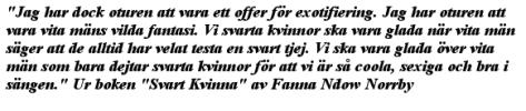Ur boken: Svart Kvinna av Fanna Ndow