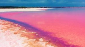 Pink Lake Bild: Skärmdump från Youtube