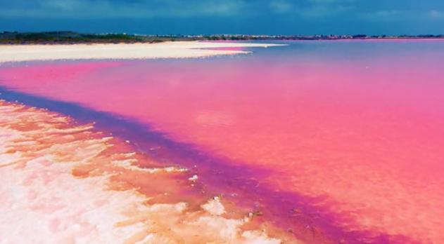 Den rosa sjön i Senegal