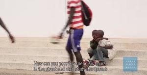Skärmdump från Youtubefilm från Human Rights Watch
