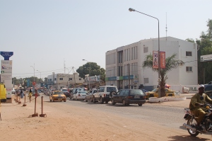 I Serekunda hölls demonstrationen Foto: Fatou Darboe , Afropé