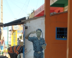 Väggmålning i West Field, Serekunda Foto: Fatou Darboe , Afropé