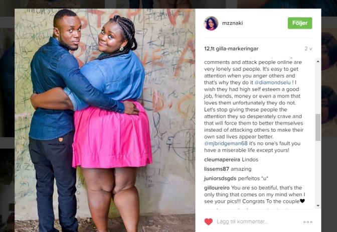 Nyförlovad kvinna i Ghana inspirerar nu många, efter att ha fått kränkande kommentarer om sin figur