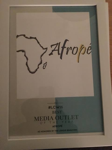 Afropé mottar pris för Best media outlet
