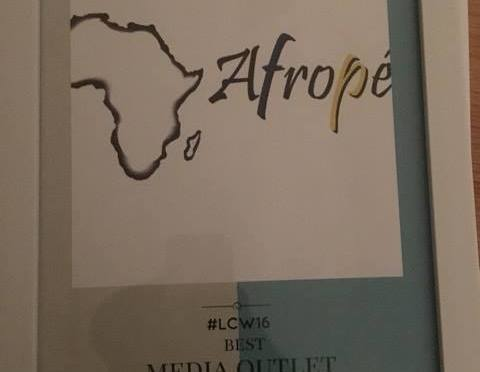Afropé mottar pris för Best media outlet