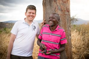 Jan Bolmeson på plats i Kenya. Foto: Jan Bolmesson