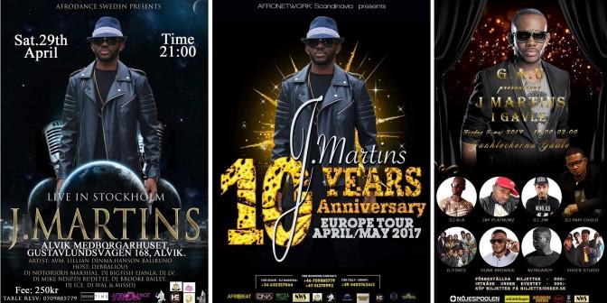 J. Martins kommer till Sverige för två konserter