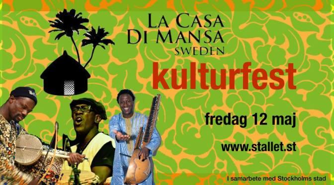 Senegalesisk kulturfest på Stallet 12 maj
